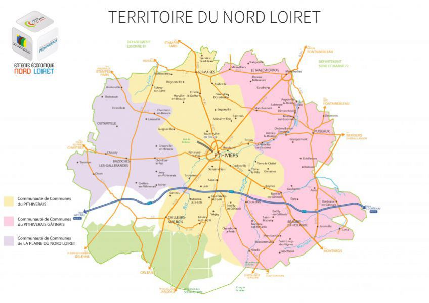 Carte Entente Economique du Nord Loiret